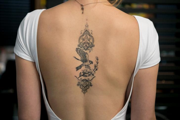 Back Eagle Decoration Tattoo by Bang Bang