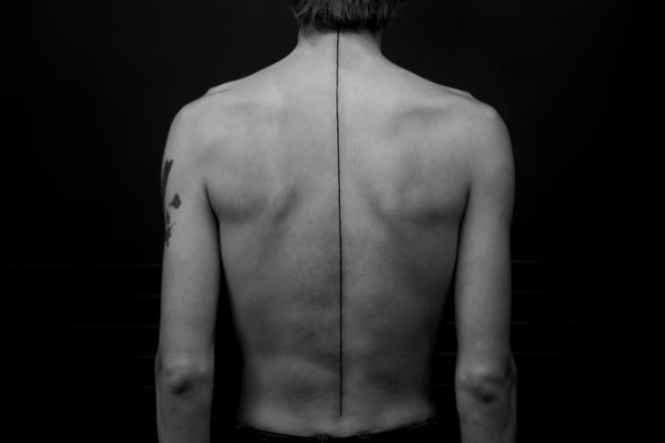Back Line Tattoo by Bang Bang