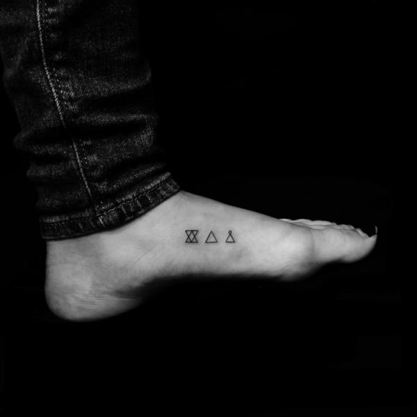 Foot Triangle Tattoo by Bang Bang