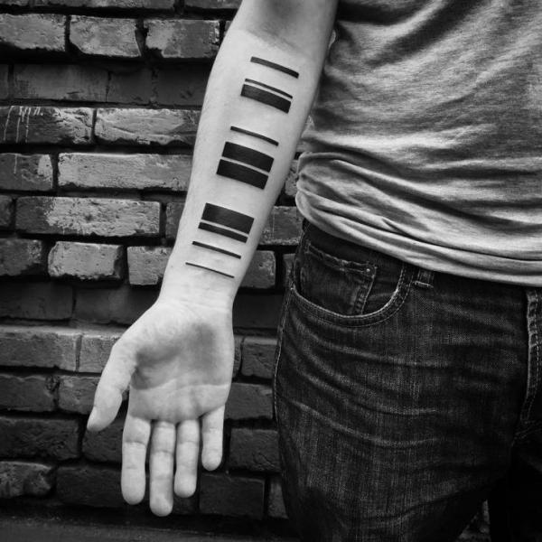 Arm Geometrisch Linien Tattoo von Digitalism
