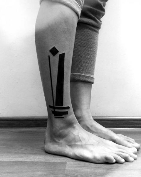 Leg Geometric Tattoo by Digitalism