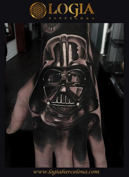 Hand Star Wars Darth Vader Tattoo by Logia Barcelona