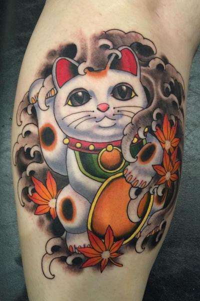 Arm Cat Tattoo by Kings Avenue Tattoo