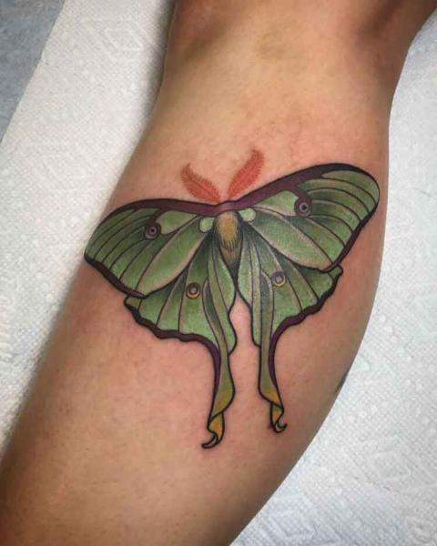 Arm Moth Tattoo by Good Kind Tattoo