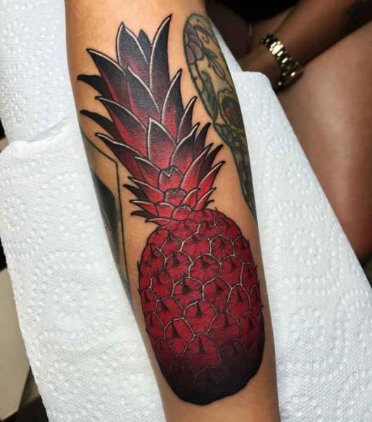 Arm Pineapple Tattoo by Good Kind Tattoo