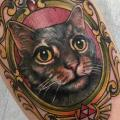 tatuaje Brazo Realista Gato por Good Kind Tattoo