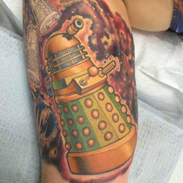 Arm Robot Tattoo by Good Kind Tattoo