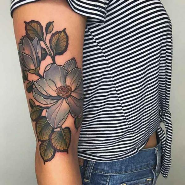 Arm Flower Tattoo By Good Kind Tattoo