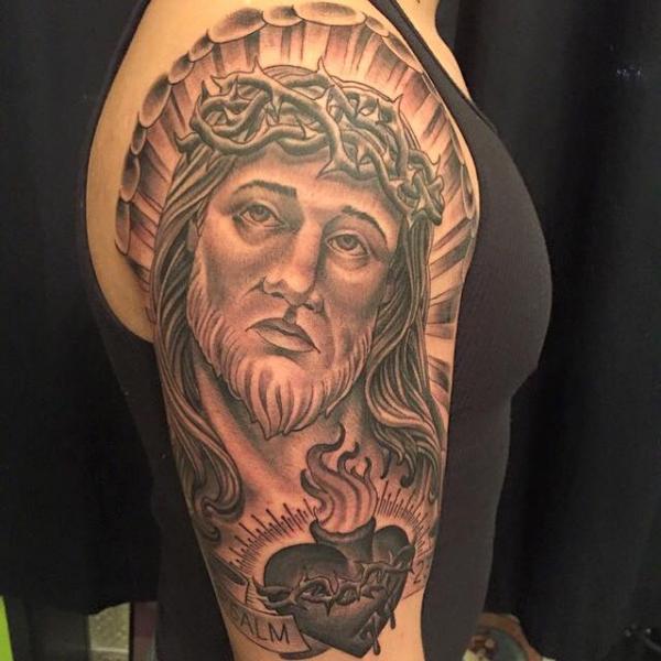 Arm Jesus Religiös Tattoo von Good Kind Tattoo