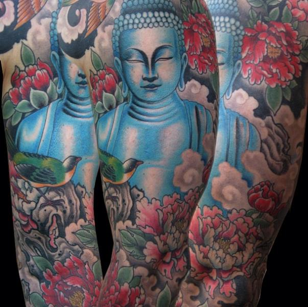 Arm Buddha Religious Tattoo by Electric Anvil Tattoo