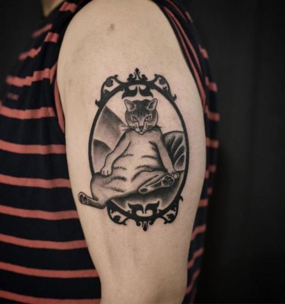 Arm Katzen Tattoo von Electric Anvil Tattoo