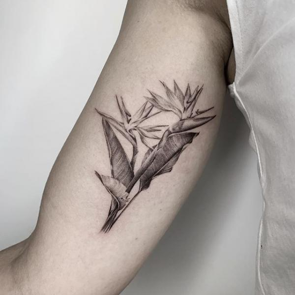 Arm Flower Dotwork Tattoo by Dot Ink Group