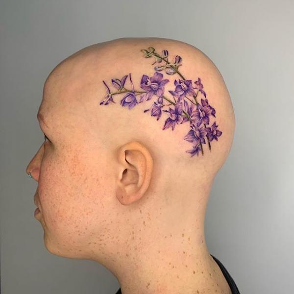 Tatuaggio Fiore Testa di Dot Ink Group