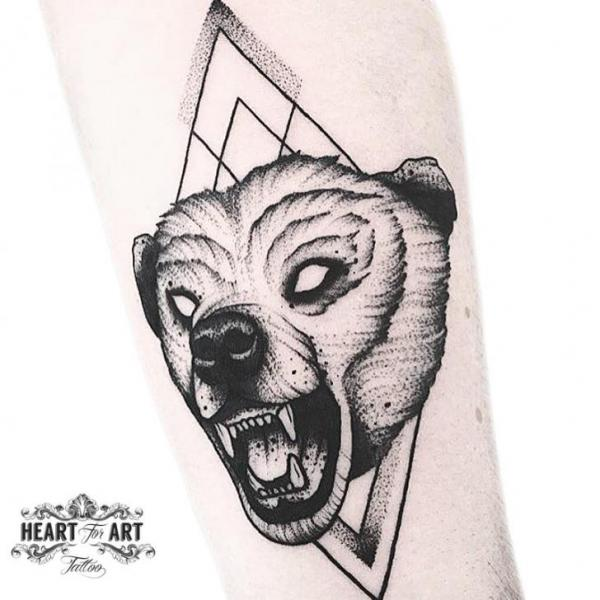 Arm Bear Tattoo by Heart of Art