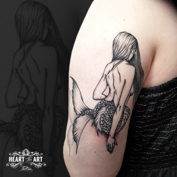 Arm Mermaid Tattoo By Heart Of Art