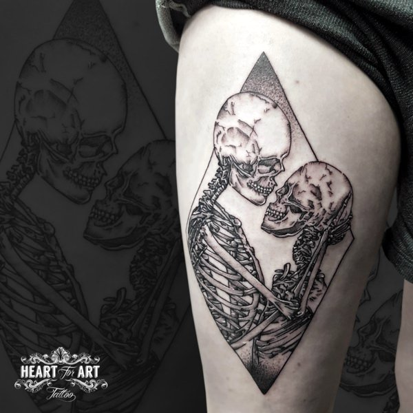 Arm Skeleton Tattoo von Heart of Art