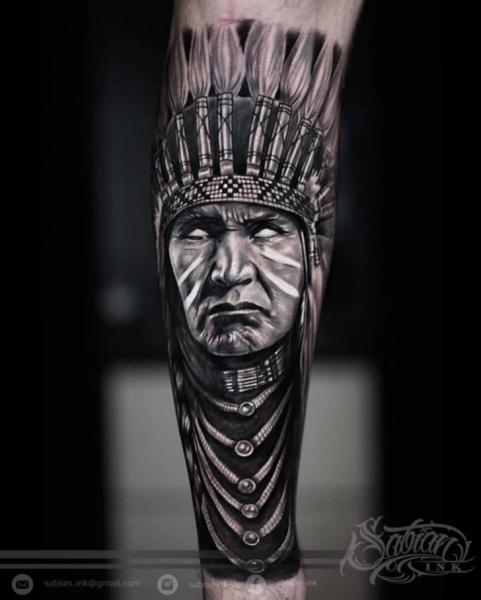 Arm Portrait Realistic Indian Tattoo by Sabian Ink