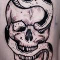 Arm Snake Skull tattoo by Sabian Ink