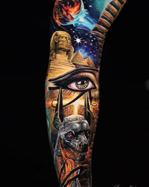 Sleeve Egypt Tattoo by Sabian Ink