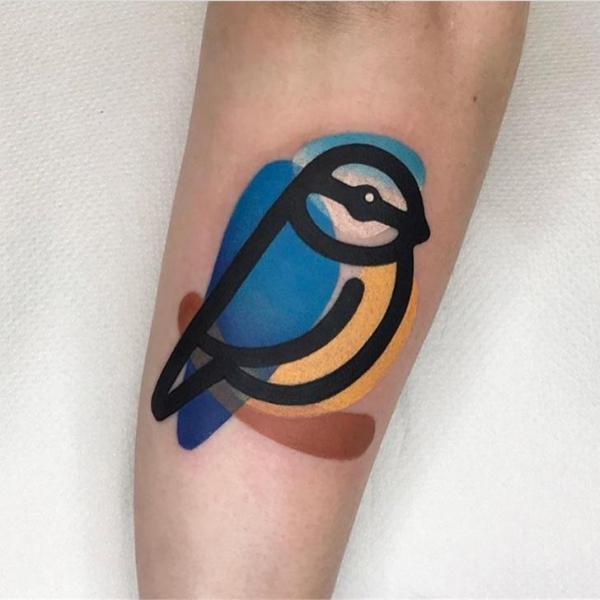 Arm Bird Tattoo by Mambo Tattooer