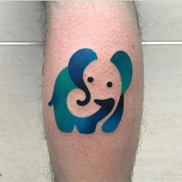 Arm Elefant Tattoo von Mambo Tattooer