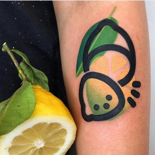 Arm Lemon Tattoo by Mambo Tattooer