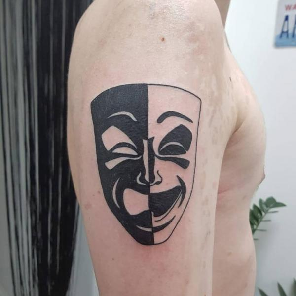 Arm Mask Tattoo by Plan9 Ealing