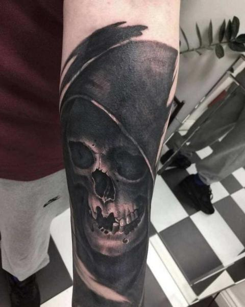 Arm Skull Tattoo by Plan9 Ealing