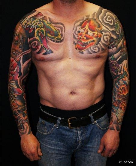 Tatuaggio Spalla Braccio Giapponesi di 72 Tattoo