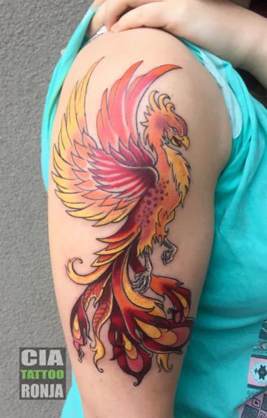 Arm Phoenix Tattoo von Cia Tattoo