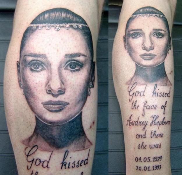 Arm Realistic Lettering Women Tattoo by Cia Tattoo