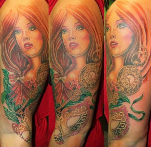 Arm Realistic Women Tattoo by Cia Tattoo