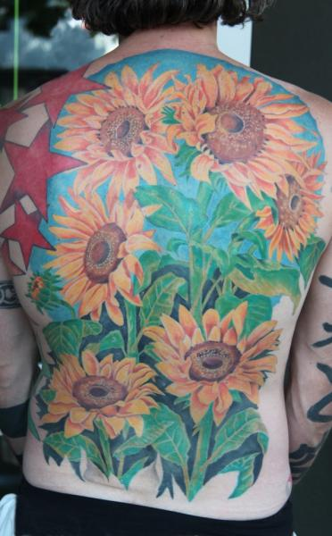 Flower Back Tattoo by Cia Tattoo