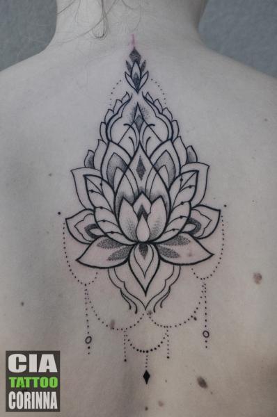 Back Dotwork Mandala Tattoo by Cia Tattoo