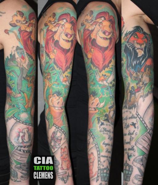Sleeve Disney Lion King Tattoo By Cia Tattoo
