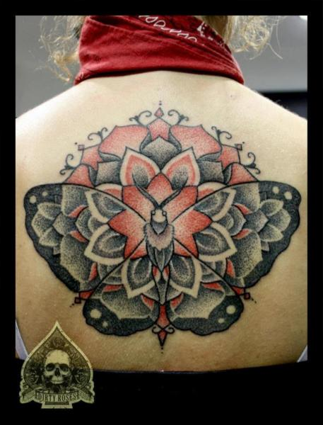 Back Butterfly Tattoo by Dirty Roses