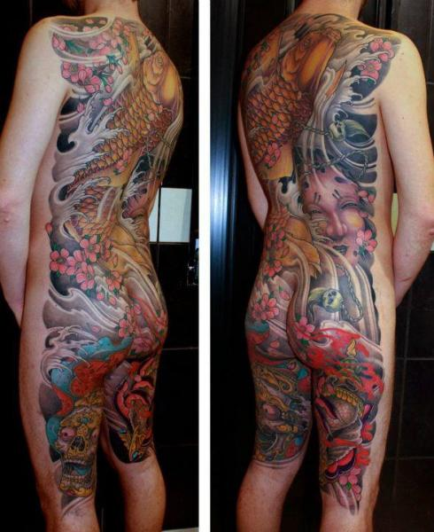 Japanese Body Tattoo by Dirty Roses