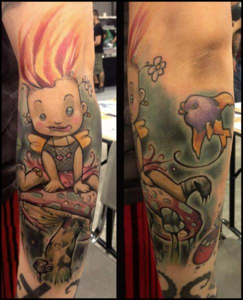 Fantasy Leg Tattoo by Dirty Roses