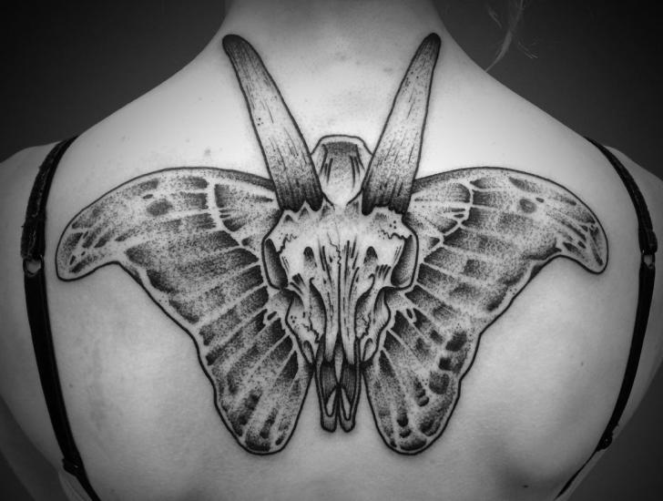 Back Butterfly Tattoo by Avinit Tattoo