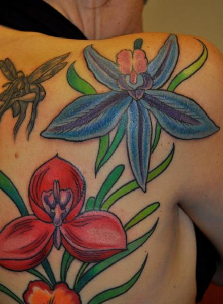 Shoulder Flowers Tattoo by Avinit Tattoo