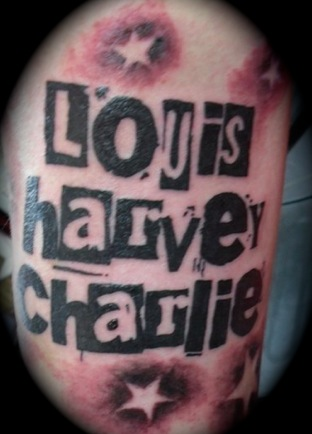 Lettering Tattoo by Bad Girl Ink Tattoos