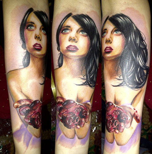 Arm Fantasy Women Tattoo by Bananas Tattoo