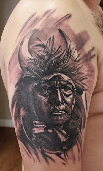 Schulter Indisch Tattoo von Bananas Tattoo