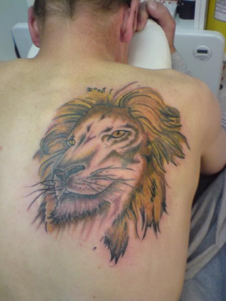 Back Lion Tattoo by Beverley Ink