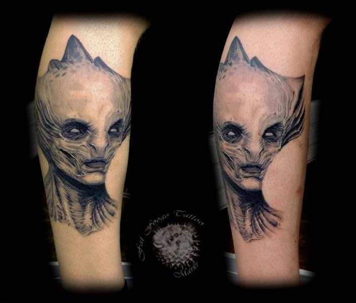 Arm Fantasy Alien Tattoo by Fat Foogo
