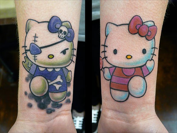 Arm Fantasy Hello Kitty Tattoo by Fat Foogo