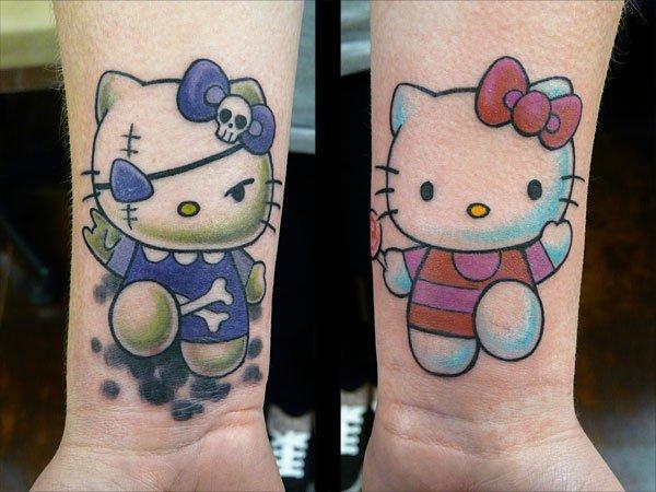 Arm Fantasie Hello Kitty Tattoo von Fat Foogo