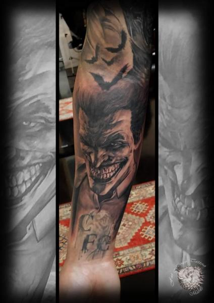 Arm Joker Tattoo by Fat Foogo