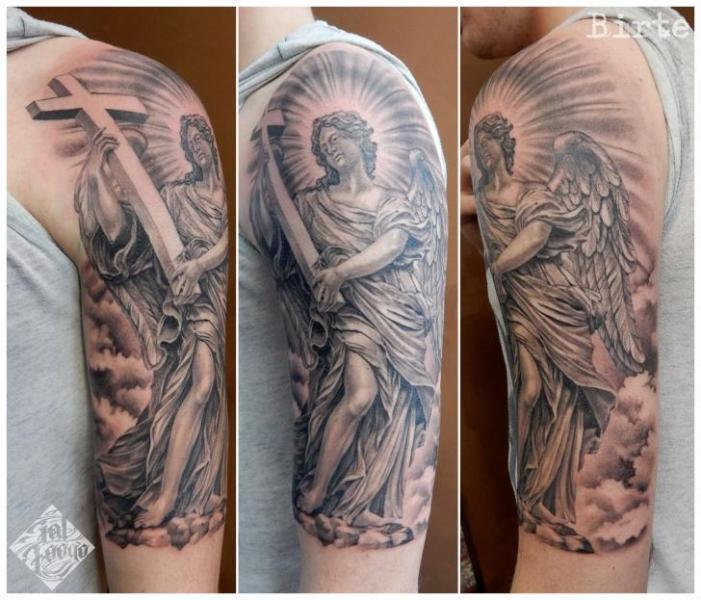 Arm Angel Religious Tattoo by Fat Foogo