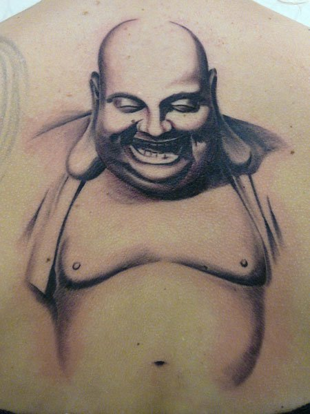 Buddha Back Religious Tattoo by Fat Foogo